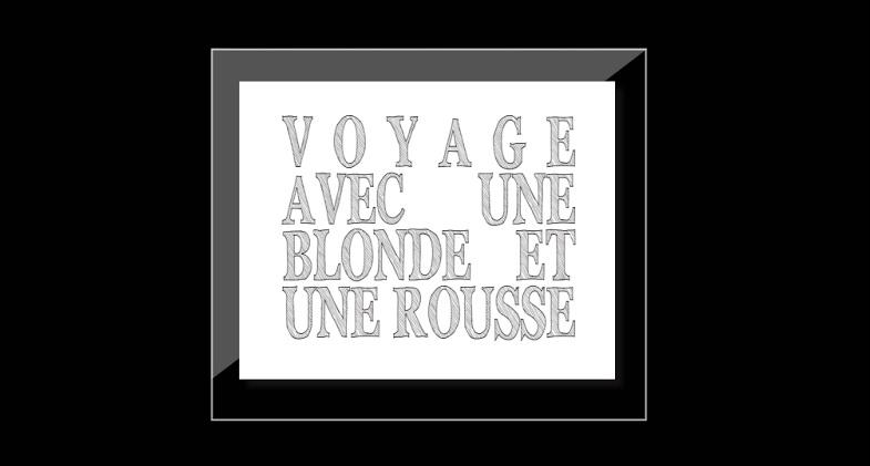 Voyage avec une Blonde et une Rousse