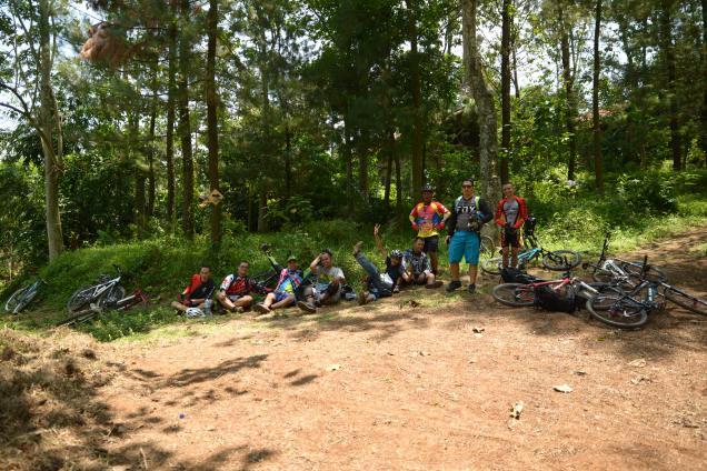 Le groupe de cycliste