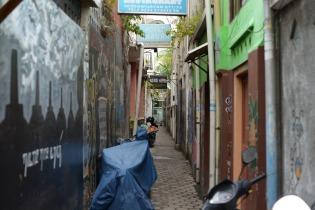 Gang ; petit rue de Jogjagkarta