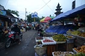 Marché près de Borobudur