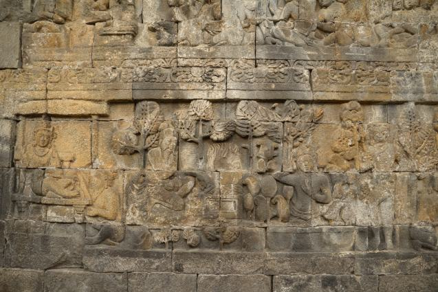 Détails de Borobudur