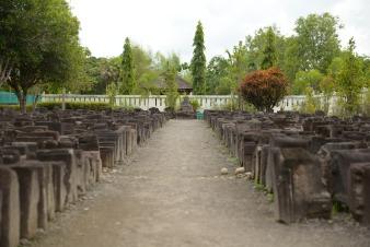 Pierres des rénovations du temple de Borobudur
