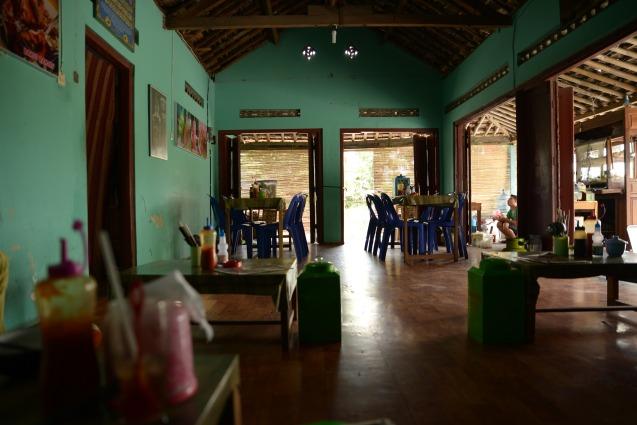 Restaurant le jour de la visite de Borobudur