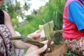Du riz cuisiné maison, le repas du midi des travailleuses dans les rizieres
