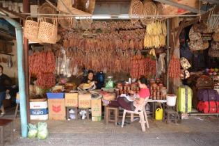 Charcuterie à Siem reap au Cambodge
