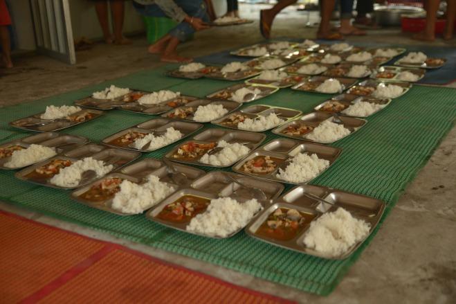 Cantine de l'école du Bayon au Cambodge.