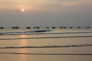 Coucher de soleil en amoureux sur la plage <3